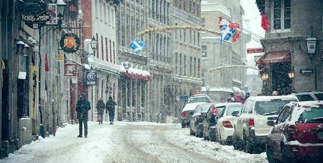 Le Vieux Montréal sous la Neige